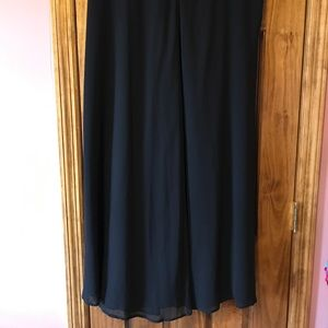 Long formal dressy chiffon black skirt